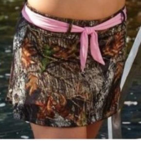 3bd4d11086 Wilderness Dreams Swim   Mossy Oak Belt Camo Skirt   Poshmark
